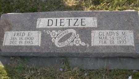 DIETZE, FRED E. - Douglas County, Nebraska | FRED E. DIETZE - Nebraska Gravestone Photos