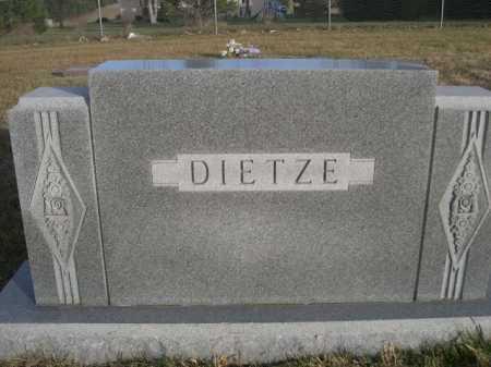 DIETZE, FAMILY - Douglas County, Nebraska | FAMILY DIETZE - Nebraska Gravestone Photos