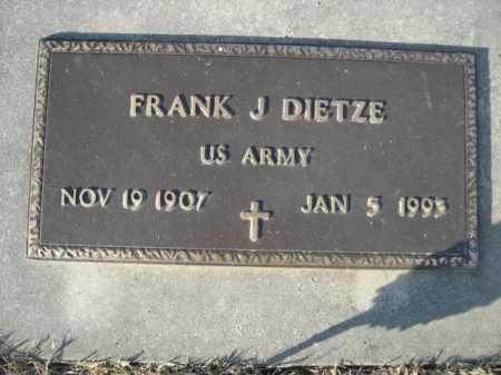 DIETZE, FRANK J. - Douglas County, Nebraska | FRANK J. DIETZE - Nebraska Gravestone Photos