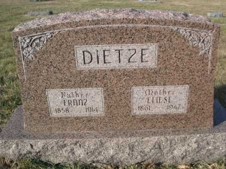 DIETZE, FRANZ - Douglas County, Nebraska | FRANZ DIETZE - Nebraska Gravestone Photos