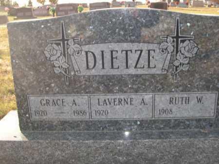 DIETZE, LAVERNE A. - Douglas County, Nebraska | LAVERNE A. DIETZE - Nebraska Gravestone Photos