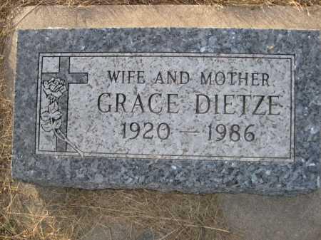 DIETZE, GRACE - Douglas County, Nebraska | GRACE DIETZE - Nebraska Gravestone Photos