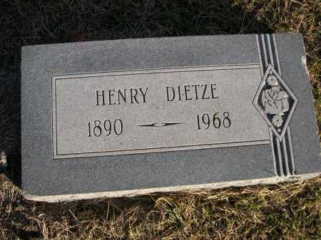 DIETZE, HENRY - Douglas County, Nebraska   HENRY DIETZE - Nebraska Gravestone Photos