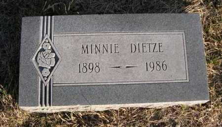 DIETZE, MINNIE - Douglas County, Nebraska | MINNIE DIETZE - Nebraska Gravestone Photos
