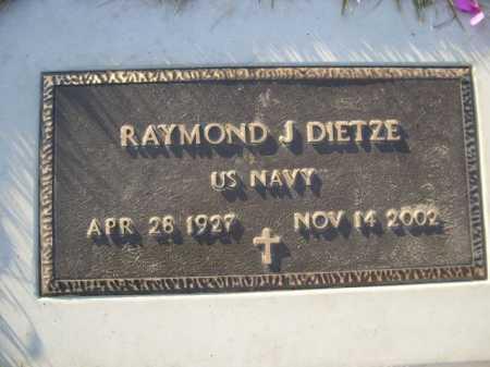 DIETZE, RAYMOND J. - Douglas County, Nebraska   RAYMOND J. DIETZE - Nebraska Gravestone Photos