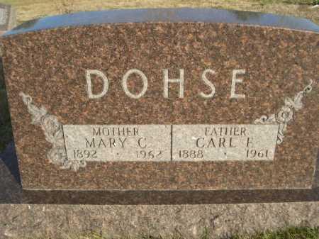 DOHSE, MARY C. - Douglas County, Nebraska | MARY C. DOHSE - Nebraska Gravestone Photos
