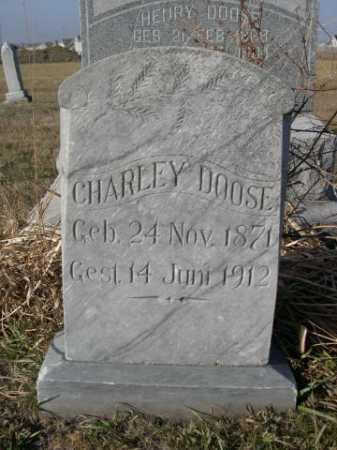 DOOSE, CHARLEY - Douglas County, Nebraska   CHARLEY DOOSE - Nebraska Gravestone Photos