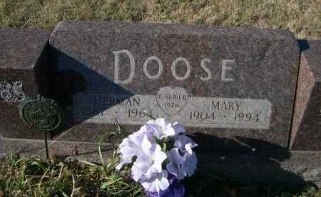 DOOSE, MARY - Douglas County, Nebraska | MARY DOOSE - Nebraska Gravestone Photos