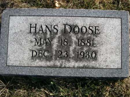 DOOSE, HANS - Douglas County, Nebraska   HANS DOOSE - Nebraska Gravestone Photos