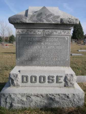 DOOSE, HENRICH - Douglas County, Nebraska | HENRICH DOOSE - Nebraska Gravestone Photos