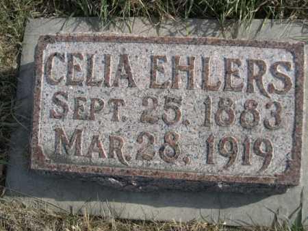 EHLERS, CELIA - Douglas County, Nebraska | CELIA EHLERS - Nebraska Gravestone Photos