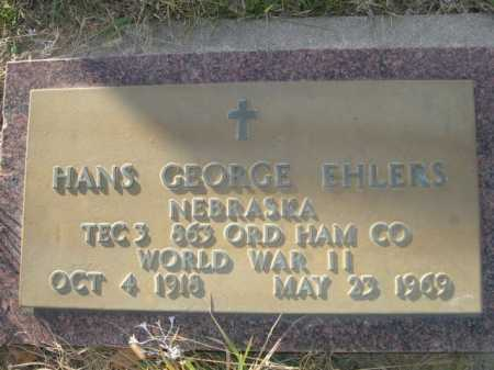 EHLERS, HANS GEORGE - Douglas County, Nebraska | HANS GEORGE EHLERS - Nebraska Gravestone Photos
