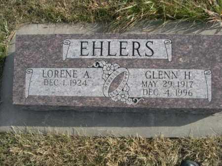 EHLERS, GLENN H. - Douglas County, Nebraska | GLENN H. EHLERS - Nebraska Gravestone Photos