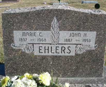 EHLERS, JOHN H. - Douglas County, Nebraska | JOHN H. EHLERS - Nebraska Gravestone Photos