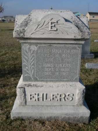 EHLERS, WILHELMINA - Douglas County, Nebraska | WILHELMINA EHLERS - Nebraska Gravestone Photos