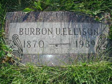 ELLISON, BURBON U - Douglas County, Nebraska | BURBON U ELLISON - Nebraska Gravestone Photos