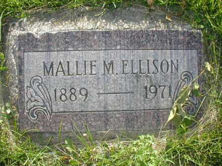 ELLISON, MALLIE M - Douglas County, Nebraska | MALLIE M ELLISON - Nebraska Gravestone Photos