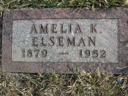 ELSEMAN, AMELIA K. - Douglas County, Nebraska | AMELIA K. ELSEMAN - Nebraska Gravestone Photos