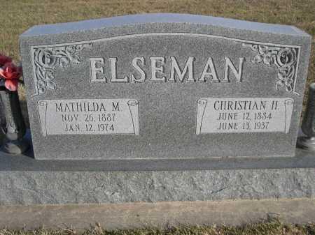 ELSEMAN, MATHILDA M. - Douglas County, Nebraska | MATHILDA M. ELSEMAN - Nebraska Gravestone Photos