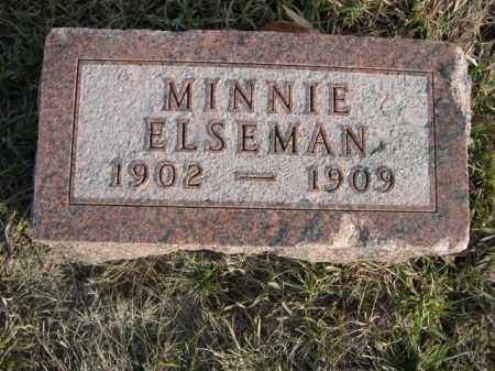 ELSEMAN, MINNIE - Douglas County, Nebraska | MINNIE ELSEMAN - Nebraska Gravestone Photos
