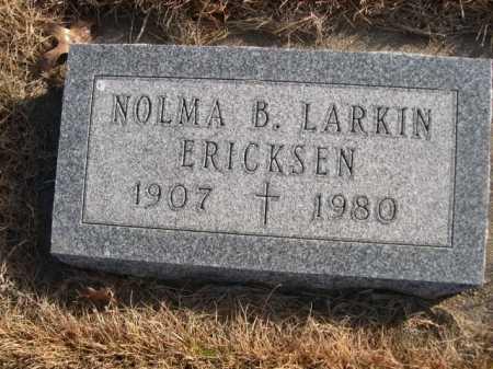 LARKIN ERICKSEN, NOLMA B. LARKIN - Douglas County, Nebraska   NOLMA B. LARKIN LARKIN ERICKSEN - Nebraska Gravestone Photos