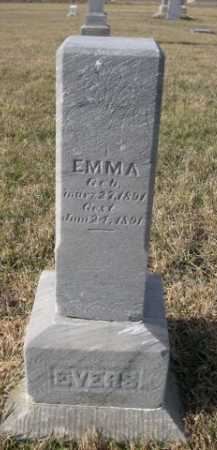 EVERS, EMMA - Douglas County, Nebraska | EMMA EVERS - Nebraska Gravestone Photos