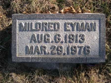 EYMAN, MILDRED - Douglas County, Nebraska   MILDRED EYMAN - Nebraska Gravestone Photos