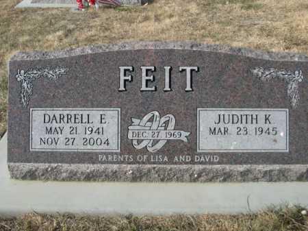 FEIT, JUDITH K. - Douglas County, Nebraska | JUDITH K. FEIT - Nebraska Gravestone Photos
