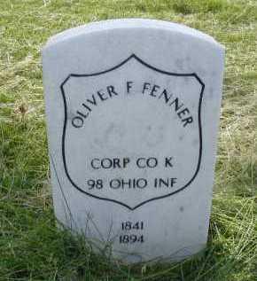 FENNER, OLIVER F - Douglas County, Nebraska   OLIVER F FENNER - Nebraska Gravestone Photos