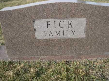 FICK, FAMILY - Douglas County, Nebraska | FAMILY FICK - Nebraska Gravestone Photos