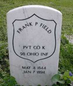 FIELD, FRANK P - Douglas County, Nebraska | FRANK P FIELD - Nebraska Gravestone Photos