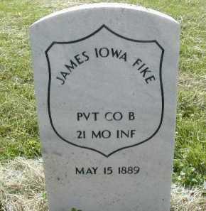 FIKE, JAMES IOWA - Douglas County, Nebraska | JAMES IOWA FIKE - Nebraska Gravestone Photos
