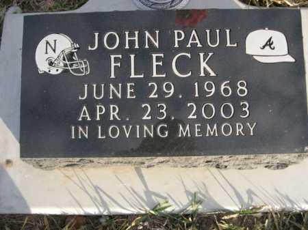 FLECK, JOHN PAUL - Douglas County, Nebraska | JOHN PAUL FLECK - Nebraska Gravestone Photos