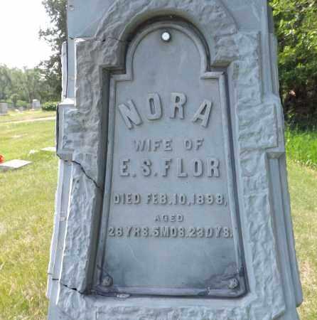 FLOR, NORA - Douglas County, Nebraska | NORA FLOR - Nebraska Gravestone Photos