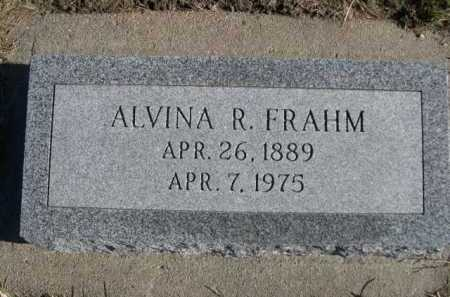 FRAHM, ALVINA R. - Douglas County, Nebraska   ALVINA R. FRAHM - Nebraska Gravestone Photos