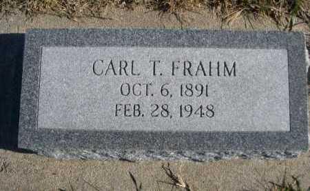 FRAHM, CARL T. - Douglas County, Nebraska | CARL T. FRAHM - Nebraska Gravestone Photos