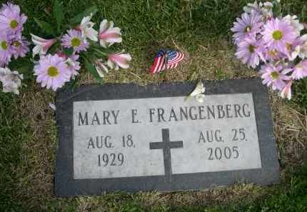 FRANGENBERG, MARY E. - Douglas County, Nebraska | MARY E. FRANGENBERG - Nebraska Gravestone Photos
