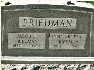 FRIEDMAN, ANNA - Douglas County, Nebraska | ANNA FRIEDMAN - Nebraska Gravestone Photos