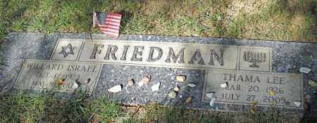 FRIEDMAN, THAMA LEE - Douglas County, Nebraska | THAMA LEE FRIEDMAN - Nebraska Gravestone Photos