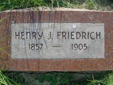 FRIEDRICH, HENRY J - Douglas County, Nebraska | HENRY J FRIEDRICH - Nebraska Gravestone Photos