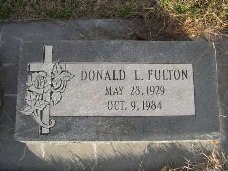 FULTON, DONALD L. - Douglas County, Nebraska | DONALD L. FULTON - Nebraska Gravestone Photos