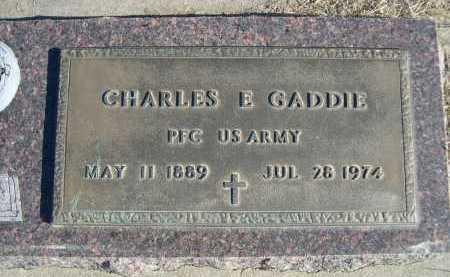 GADDIE, CHARLES E. - Douglas County, Nebraska | CHARLES E. GADDIE - Nebraska Gravestone Photos