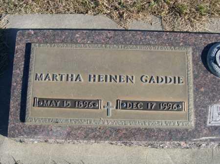 GADDIE, MARTHA HEINEN - Douglas County, Nebraska | MARTHA HEINEN GADDIE - Nebraska Gravestone Photos
