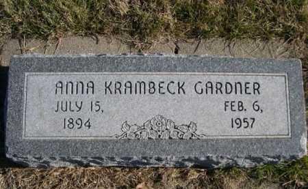 GARDNER, ANNA KRAMBECK - Douglas County, Nebraska | ANNA KRAMBECK GARDNER - Nebraska Gravestone Photos