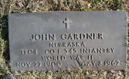 GARDNER, JOHN - Douglas County, Nebraska | JOHN GARDNER - Nebraska Gravestone Photos