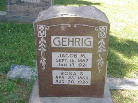 GEHRIG, JACOB M - Douglas County, Nebraska | JACOB M GEHRIG - Nebraska Gravestone Photos