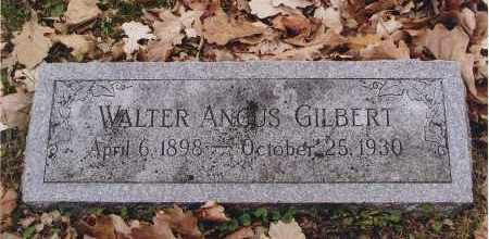 GILBERT, WALTER ANGUS - Douglas County, Nebraska   WALTER ANGUS GILBERT - Nebraska Gravestone Photos