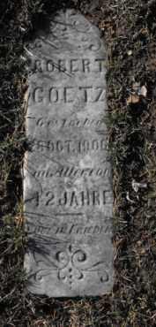 GOETZ, ROBERT - Douglas County, Nebraska | ROBERT GOETZ - Nebraska Gravestone Photos