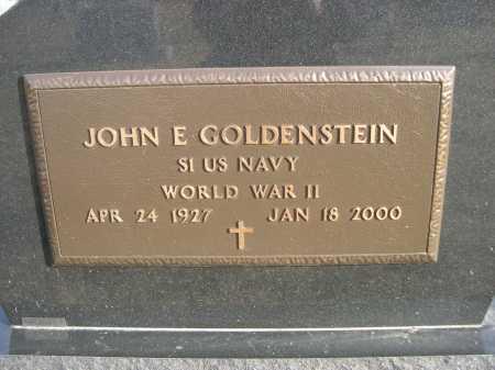 GOLDENSTEIN, JOHN E. - Douglas County, Nebraska | JOHN E. GOLDENSTEIN - Nebraska Gravestone Photos