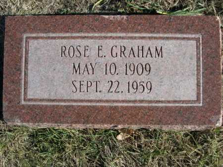 GRAHAM, ROSE E - Douglas County, Nebraska | ROSE E GRAHAM - Nebraska Gravestone Photos